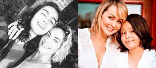 Bárbara Mori e Gaby Spanic são mães solteiras. (Reprodução Instagram/@gabyspanictv @smayermori)
