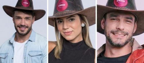 Lucas e Hariany: casal é apontado como favoritos por enquete UOL em 'A Fazenda 11'. (Arquivo Blasting News)