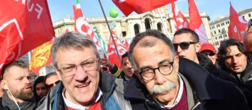 Roma, i sindacati in piazza: anche la Cgil di Landini