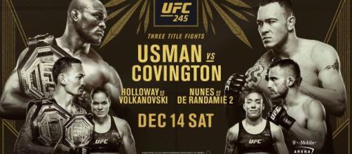 UFC 245 domenica 15 dicembre su DAZN