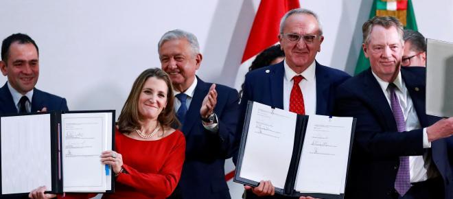 Estados Unidos, Canadá y México firman versión final del T-MEC