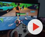 """Fortnite"" players can now use the split-screen feature. [Image Source: caramell o / YouTube]"