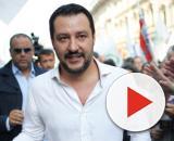 Matteo Salvini, leader della Lega, in visita in Calabria