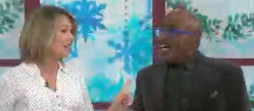 "Dylan Dreyer of ""Today"" tries hard to win Al Roker over with her lime Jello holiday side dish. [Image source: TODAY-YouTube]"