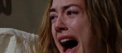 Spoiler beautiful: Hope distrutta per la morte di sua figlia Beth.