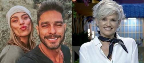 """Fran Grossi, mulher de Diego Grossi, falou sobre a participação do peão em """"A Fazenda 11"""" e da polêmica dele com Andréa. (Fotomontagem)"""