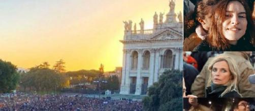 Anche tanti Vip in piazza a Roma con le Sardine