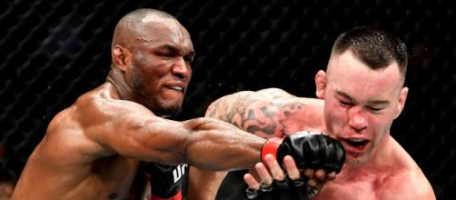Usman necesitaba el TKO para evitar ir a las tarjetas de una pelea cerrada. www.thesun.co.uk