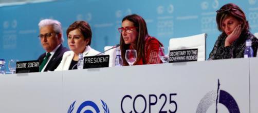 La COP25 à Madrid présidé par le gouvernement chilien. Credit: Twitter/@COP25CL
