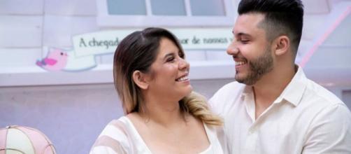 Leo nasceu! Marília Mendonça deu à luz ao primeiro filho com Murilo Huff nesta segunda-feira (16). (Arquivo Blasting News)