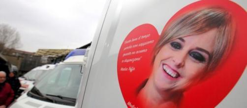 Nadia Toffa sulle ambulanze di Milano