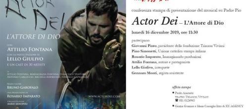 Actor Dei: un musical su San Pio da Pietralcina dal 25 dicembre al 6 gennaio al teatro Trianon di Napoli