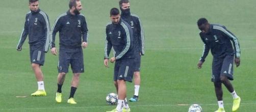 La Juventus in allenamento serrato