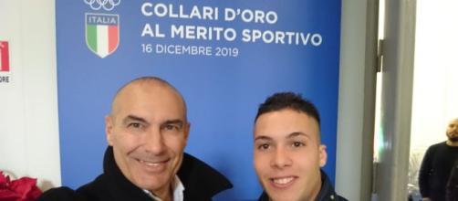 Raffaele Di Maggio ed il suo coach Orazio Scarpa