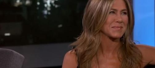 Brad Pitt goes to Jennifer Aniston's party - Image credit - Jimmy Kimmel Live / YouTube