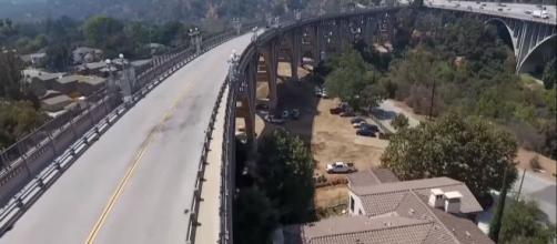 Colorado Street Bridge in Pasadena, CA has also been known as the Suicide Bridge since the Great Depression in the 30's. [Source: CBS LA/YouTube]