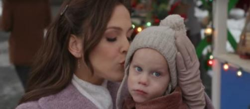 """Erin Krakow and her """"When Calls the Heart"""" cast send important message with hands and three little words.[Image source:HallmarkChannel-YouTube]"""