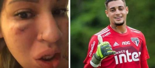 Mulher do goleiro Jean, do São Paulo, acusa o marido de agressão e ele vai preso. (Arquivo Blasting News)