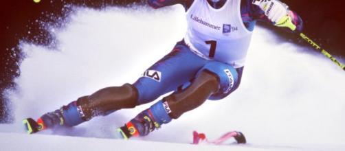 Alberto Tomba in azione a Lillehammer
