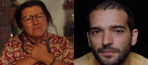 """""""Nunca parei de te procurar, meu filho"""", dirá Lurdes a Sandro. (Fotomontagem/Reprodução/TV Globo)"""
