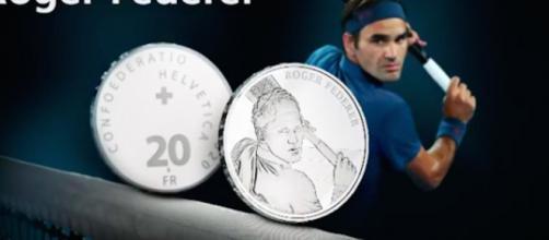 Roger Federer aura sa propre pièce de monnaie en Suisse. Credit: Instagram/rogerfederer