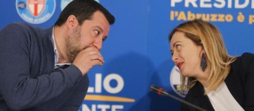 Salvini e Meloni, i due principali leader dell'opposizione