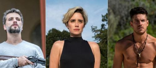 Bruno Gagliasso, Fernanda Vasconcellos e Marco Pigossi saíram da Globo para brilhar na Netflix. ( Reprodução/FotoMontagem )
