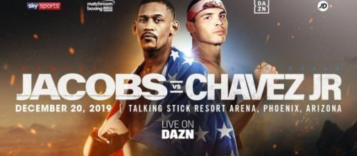 Jacobs vs Chavez Jr a Phoenix, domenica 21 dicembre (ora italiana) in diretta su DAZN