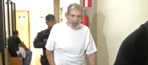 João de Deus passou por exames em agosto deste ano, no hospital de Aparecida de Goiânia. (Reprodução/TV Globo)