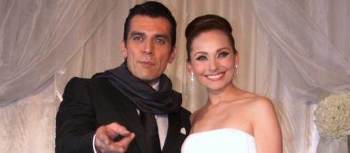 Jorge Salinas e Elizabeth Alvarez, sua esposa. (Arquivo/Blasting News)