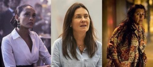 """Taís Araújo, Adriana Esteves e Regina Casé são as protagonistas de """"Amor de Mãe"""". (Reprodução/João Cotta/Globo)"""