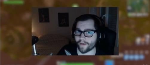 'Fortnite' streamer Dakotaz revealing his face on stream. [Image source: mackf-/YouTube]