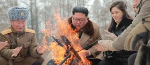 North Korea's message to US: choose your Christmas present. [Image source/CNN YouTube video]