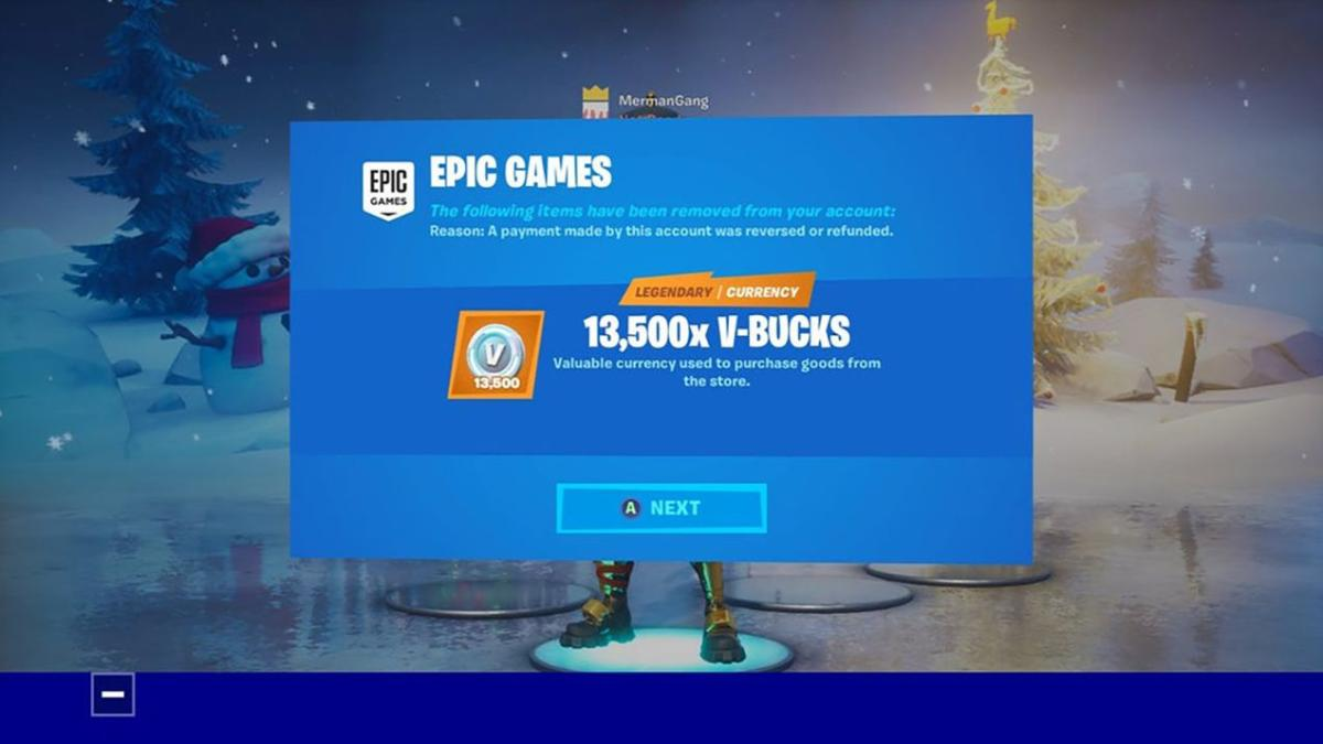 Epic Games Removes Skins And V Bucks From Fortnite Accounts Due To Third Party Purchases