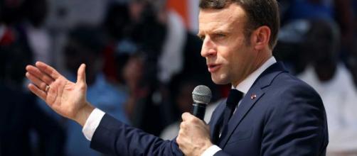 Emmanuel Macron, presidente de Francia, en un discurso.