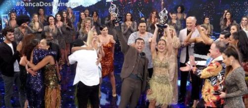 Kaysar Dadour e Mayara Araújo são anunciados vencedores do 'Dança dos Famosos 2019'. (Reprodução/TV Globo)
