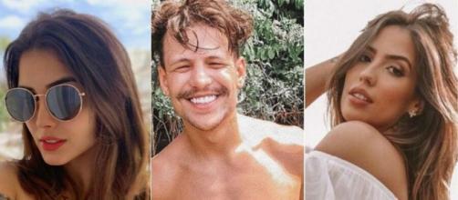 Letícia Almeida, Saulo Poncio e Gabi Brandt voltaram a ser notícia em 2019. (Fotomontagem/Reprodução/Instagram)