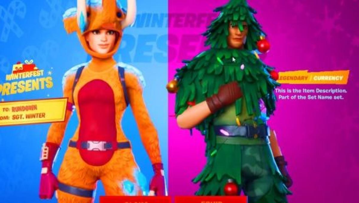 Fortnite' players can now get a free Christmas skin in the game