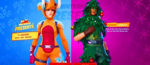 First free 'Fortnite' Christmas skin is now available. [Image Source: Rundown / YouTube]