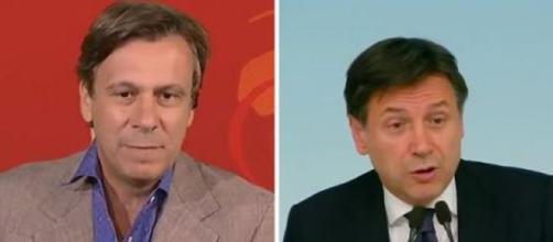 Il giornalista Nicola Porro e il Presidente del Consiglio Giuseppe Conte