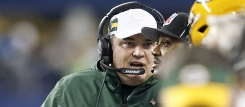 Mike McCarthy has interviewed for the Carolina Panthers HC job. [Image Credit] NFL/YouTube