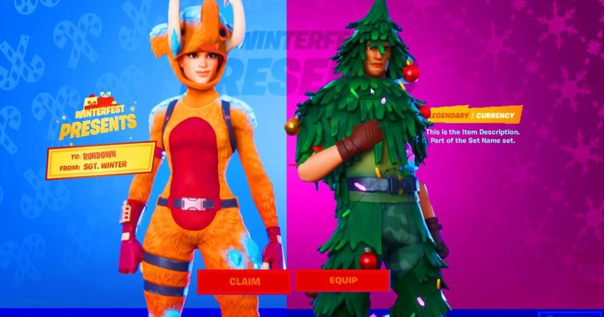'Fortnite' players can now get a free Christmas skin in ...