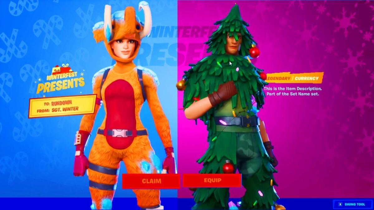 Fortnite Christmas Day 2020 Fortnite' players can now get a free Christmas skin in the game