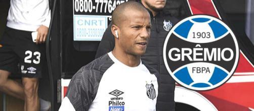 Grêmio monitora negociações entre Sanchez e Santos. (Reprodução/Fotomontagem)
