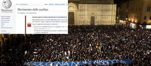 La pagina Wikipedia del Movimento delle Sardine rischia la cancellazione