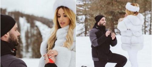 LPDLA7 : Nikola Lozina demande Laura Lempika en mariage et elle a dit oui. ®Instagram : Laura Lempika.