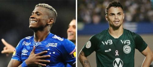 Orejuela e Michael se destacaram por Cruzeiro e Goiás, respectivamente. (Reprodução/Fotomontagem)