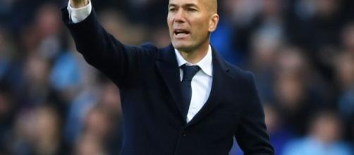 Zinedine Zidane, tecnico del Real Madrid.