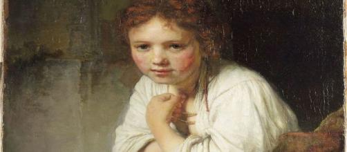 'Girl at a Window' was painted in 1645 when Rembrandt was 39. [Image source: Wikimedia Commons]