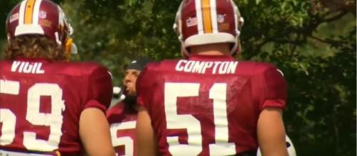 Will Compton is finding success with a new team [Image via Washington Redskins/YouTube]
